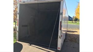 Rear Screen for Toy Hauler Ramp Door Enclosed Trailer RV