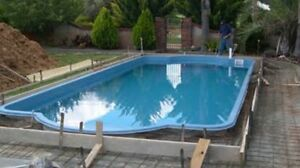 Pool installation and pool coping and glass fence Henley Beach Charles Sturt Area Preview