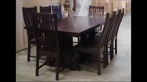 Rarely used solid timber dining table and 8 chairs Guildford Parramatta Area Preview