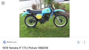 1977 Yamaha IT 175 and IT 400 sell or trade