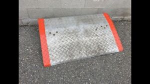 Lite weigh dock plate 2 x 4 ft for two wheels or lite dolly