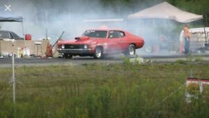 1971 chevelle 454 drag car and trailer