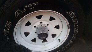 5x Tyres & Wheels (Offset 10mm) Hilux BRIDGESTONE 265x60x17 Cheltenham Kingston Area Preview