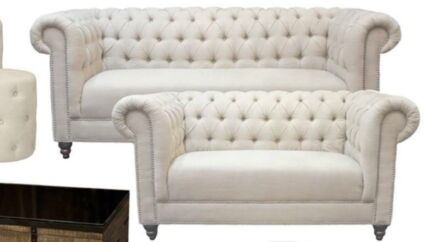 Material chesterfield like lounges