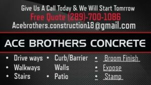Looking to get your In the driveway done or even your patio