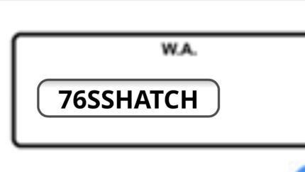 76SSHATCH number plates Ellenbrook Swan Area Preview