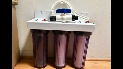 WHOLE HOUSE HARD WATER SOFTENER 3 STAGE CLEAR SYSTEM, 3/4 in. SALT FREE THE