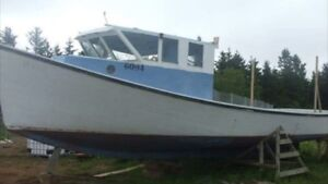 Wanted. Old fishing boat for land use.