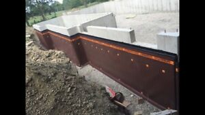 Foundation Waterproofing. Wet Basement. Concrete removal.