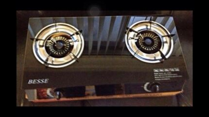 Medium quality brand new glass top two burner stove cooktop