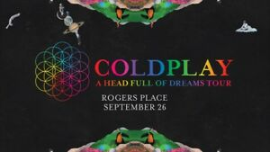 Two Coldplay Tickets - Sept 26th Rogers Place Edmonton