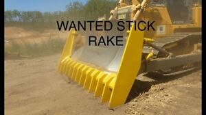 WANTED CLIP ON STICK RAKE TO SUIT D6R DOZER Pickering Brook Kalamunda Area Preview