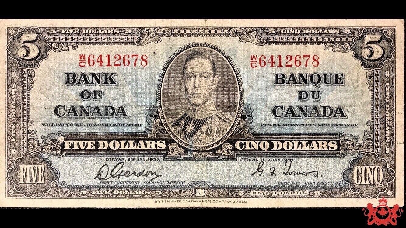 RECTO 5 Dollars Type 1937 - None