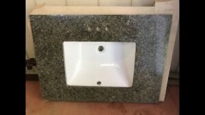 Bathroom vanity granite countertop with under mount sink