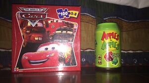 Cars Puzzle and Apples to Apples Dice Game