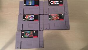 Selling five SNES games - 79$ for all of them