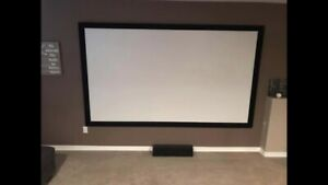"""120"""" projection screen home theatre"""