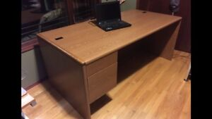 Well constructed professional wood office desk