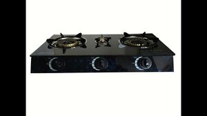 Medium quality brand new glass top 3 burner LPG  gas stove cooktop Blacktown Blacktown Area Preview