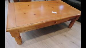 Wood coffee table with drawer(trail)