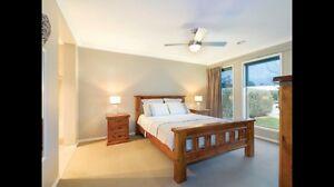 Queen bed & mattress & side tables Miners Rest Ballarat City Preview