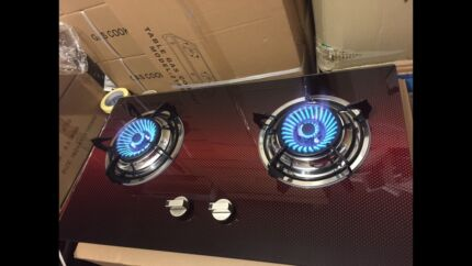 new style brand new beautiful glass top two burner stove cooktop