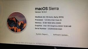 Mint Condition 2015 MacBook Air 13""