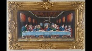 3d icon last supper hand painted painting art frame