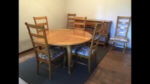 Beautiful dining set with sideboard hutch