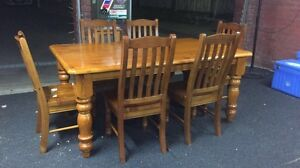 6 SEATER DINING SET St Albans Park Geelong City Preview