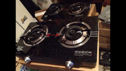 Brand new glass top two burner gas stove cooktop still in box