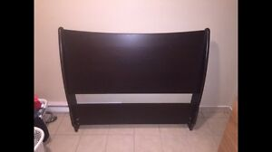 Headboard with steel bed frame