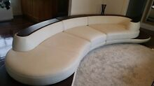 Immaculate high quality white leather lounge suite Nailsworth Prospect Area Preview