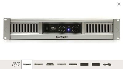 QSC GX7 Lightweight Rackmount Stereo Power Amplifier 725W/Channel @ 8 Ohms Used