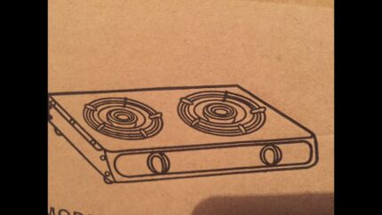 Brand new stainless steel big and strong two burner gas stove cooktop