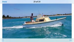 SOLD Launch 17 ft fishing / cruis Excellent Solid Huon Pine
