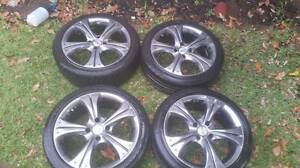 """17"""" HR racing 4x114 alloy rims mags wheels Panania Bankstown Area Preview"""