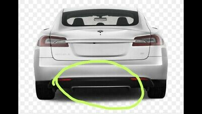 Tesla Model S Rear Bumper Diffuser Spoiler Chrome Trim GENUINE 6009004-01-B