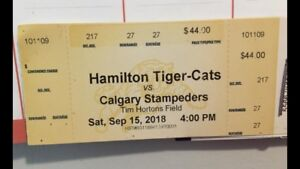 Ti-cat tickets for Today ! $44.00 each now only $50 for both