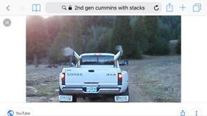 Dodge Ram Cummins dual exhaust