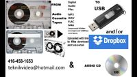 We Convert Audio Cassette Tapes & Vinyl Records To CD & USB