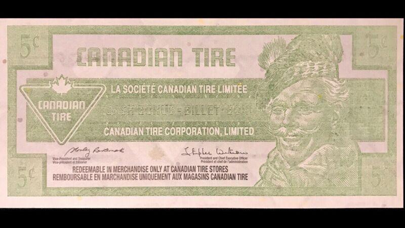 Canadian Tire 5 Cent - Printing ERROR - UNC