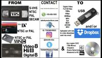 We convert consumer & commercial videotapes to USB / DVD