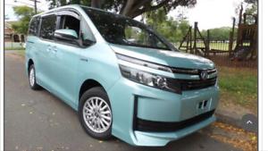Uber XL car rental Toyota Voxy Hybrid 7 seater