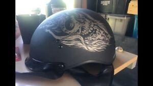 Motorcycle helmet with built in flip down visors