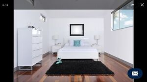 Queen bedroom suite white gloss Kelvin Grove Brisbane North West Preview