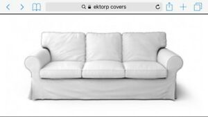 Slip Covers for 3 seat sofa and foot stool