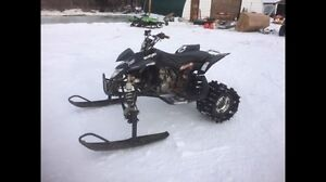Ltr450 snow bike quadracer