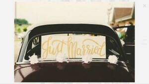 "Wooden ""Just Married"" sign [reduced]"