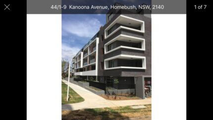 Brand new one bedroom unit for rent in homebush!!